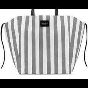 Victoria's Secret Gray Striped Tote NWOT $98